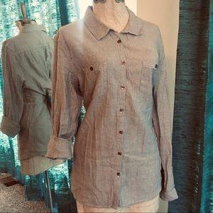 Denim Blue & White Shirt